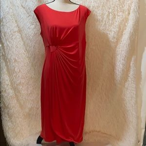 Connected apparel Women  coral Dress Size 16